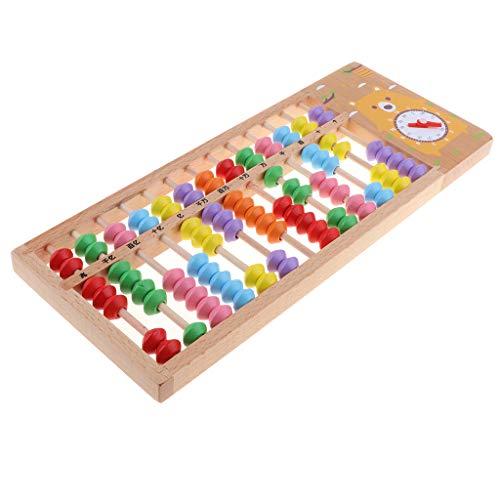 chiwanji Colorful Abacus, Juguete Educativo Matemático de Calculadora Soroban para Niños, 13 Columnas