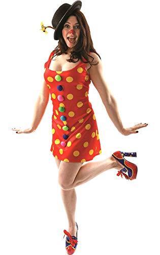 ORION COSTUMES Déguisement de carnaval du cirque avec clown à pois rouges pour femmes