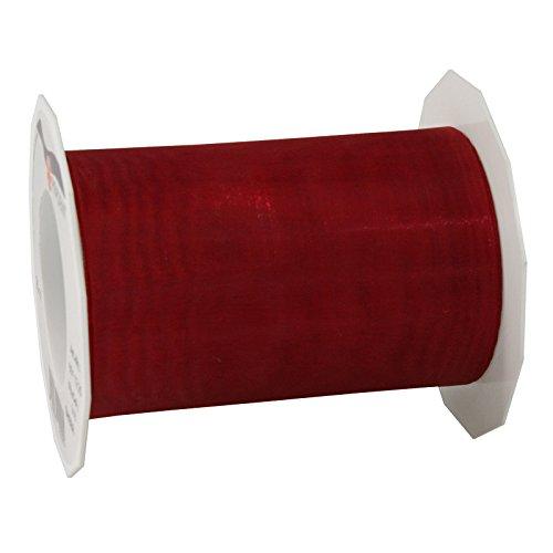 C.E. Pattberg Drukowana i drukowana wstążka, rubinowa czerwień, 112 mm - 25 m