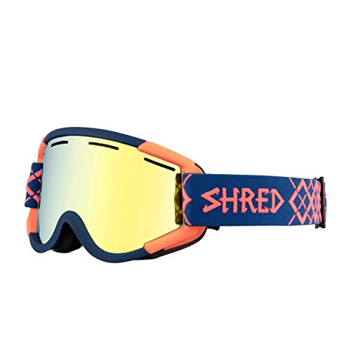 shred Nastify Bigshow Navy/Rust - CBL Hero Spiegel - Ski en Snowboard Goggles