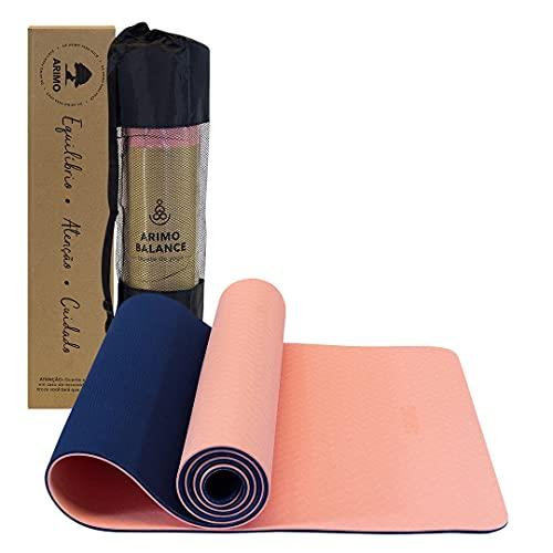 ARIMO Tapete Yoga Mat Plus Antiderrapante TPE Ecológico Biodegradável Todos Os Tipos de Yoga/Pilates 183 x 66 cm x 6 mm (Coral)
