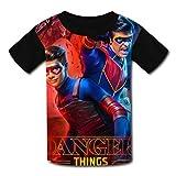 Camisetas para niños para jóvenes de Manga Corta Kid's Casual tee He-nRY Da-nG-eR 3D Print Graphics ...