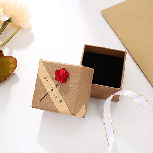 JewelOra - Caja de joyería Personalizada con Bonitas Cajas de Regalo con Flores Rosas para joyería Navidad para la Familia - Caja de Flores, S