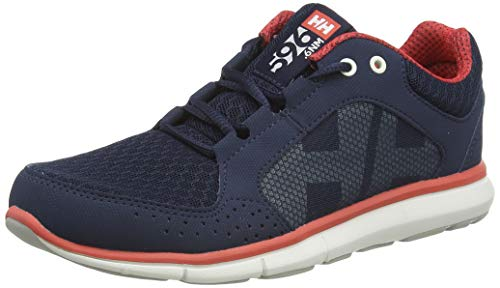 Helly Hansen Sailing and Watersport, Náuticos Mujer, Azul (Navy/Off White/Cayenne), 37 EU
