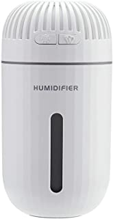 WUSHIYU Bedroom Humidifier 310ml Air Humidifier Cool Mist Humidifier with 7 Colorful LED Whisper-Quiet USB Portable Humidifier for Car Home Yoga Office Bedroom Spa Easy to Carry