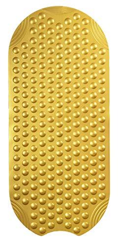Ridder Tecno Ice badmat, 100% synthetisch rubber (TPE = thermoplastisch elastomeer), goud, ca. 38 x 89 cm.
