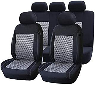 car seat Cover: Seat Covers & Supports Front and Full Car Seat Cover Universal Auto Interior Accessories Gray red Blue Car Seat Protector