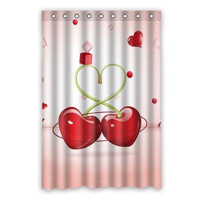 Dalliy Brauch Kirsche Wasserdicht Polyester Shower Curtain Duschvorhang 120cm x 183cm