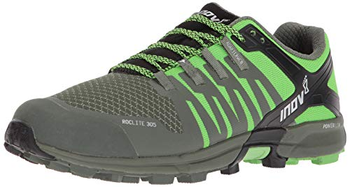 Inov-8 Roclite 305 Trail Running Shoes - Green/Black - Mens - US Men's 9