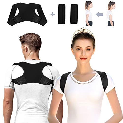AVIDDA Geradehalter zur Haltungskorrektur,Einstellbare Obere Rückenstütze Herren Damen,Effektiv Haltungstrainer Verbessern Korrektur der Rückenhaltung,Schmerzlinderung von Nacken,Rücken und Schulter