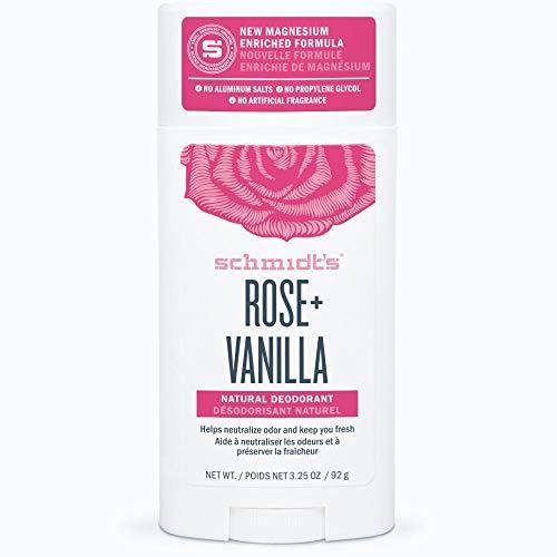 Schmidt's Natural Deodorant Stick Rosa y Vainilla 92g