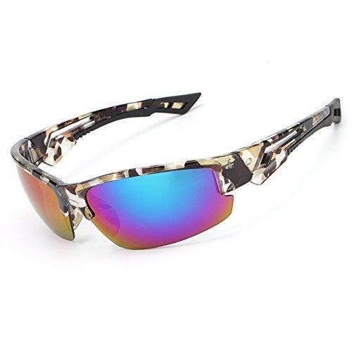 Ruanyi Gafas de Ciclismo para Hombres, Gafas de Sol polarizadas de Vuelo...