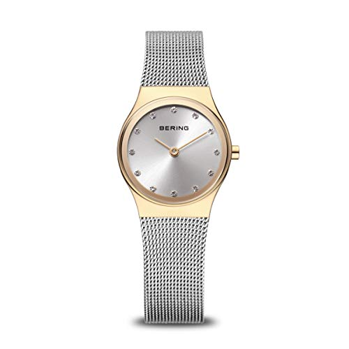BERING Reloj Analógico para Mujer de Cuarzo con Correa en Acero Inoxidable 12924-001