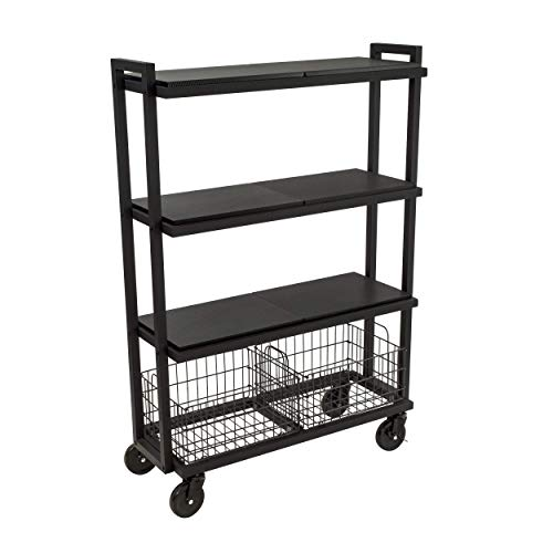 Atlantic 4-Tier Mobile Storage Cart System w/ Steel Frame - $103.18 Shipped