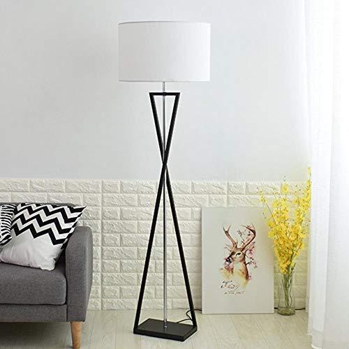 Massos vloerlamp – eenvoudige vloerlamp van Scandinavische stof voor nachtkastje en slaapkamer.