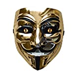 Halloween Anonymous Costume Cosplay Guy Fawkes V for Vendetta Mask (Silver)