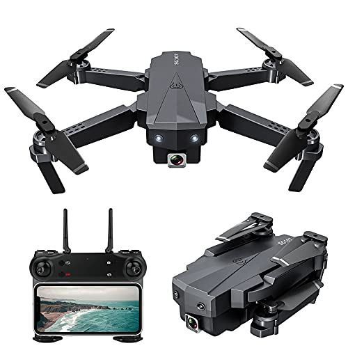 MAFANG GPS Drone con Cámara 4K para Adultos, Motor Sin Escobillas 5G Transmisión WiFi FPV Live Video Drone, RC Quadcopter con Retorno Automático A Casa, Sígueme, Waypoints, Circle Fly