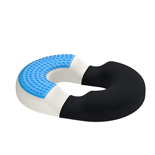 bonmedico Firm Orthopedic Donut Pillow - Home Office Memory Foam Hemorrhoid Pillow or Donut Cushion for Hemorrhoid Treatment & Coccyx Pain Relief, BBL Pillow for Car & Wheelchair, Standard