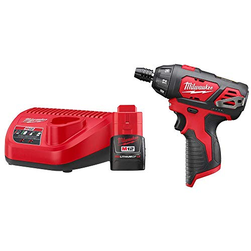 Milwaukee 2401-21B M12 12-Volt Lithium-Ion Cordless 1/4 in. Hex Screwdriver Kit