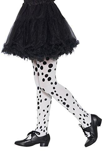 Smiffys 49763 - Medias de dálmata para niños, niñas, color negro y blanco, talla única