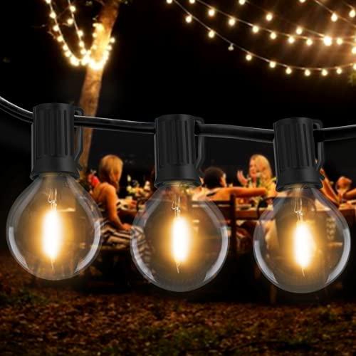 [2 pezzi] Catena Luminosa Esterno LED, Litogo 19m 50+4 G40 LED Lampadine da Esterno Impermeabile & Infrangibile Filo Luci da Esterno Lucine Decorative per Giardino, Gazebo,Terrazzo,Partito, Matrimonio