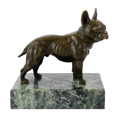 Kunst & Ambiente - Bulldogge/Bully - Bergmann - Hunde Skulptur - Figur Bronze - Wiener Bronze - Deko - Dekoration - Hundeplastik