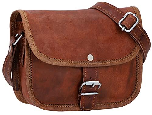 Gusti nature - Borsa a tracolla in vera pelle Mary borsa da donna piccola borsetta in stile vintage (XS)