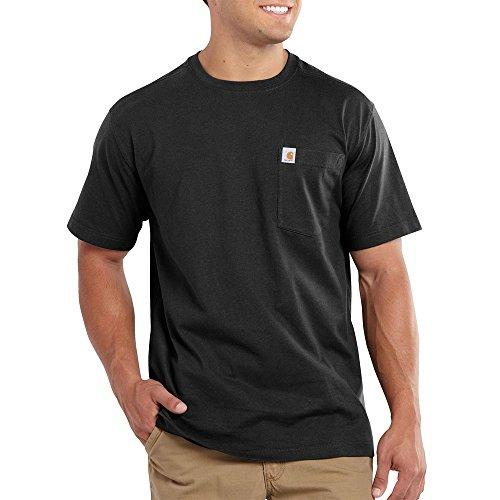 Carhartt.101125.001.S008 - Maglietta con taschino di tipo Maddock, taglia XXL, nera
