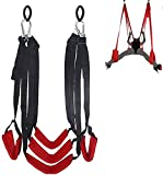 HWZADQD Sê&x Swing Couple-Swivel Swings for Indoor Games - Support 360 Degree Spinning - Hold Weight Up to 600 Lb - Height Adjustable - Easy to Install, Red