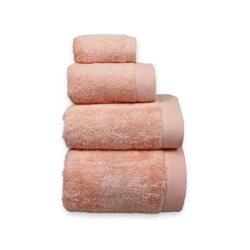 COTTONREUS Toalla Cottonplus 30% Bambú y 70% Algodón de 600 grms Color Salmón. Muy absorvente y Suave. Medida baño 100 x 150 cm.