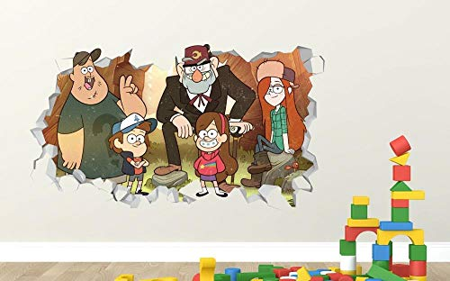 QAW Wandtattoo Gravity Falls Group benutzerdefinierte Wandtattoo 3D Wandaufkleber Kunst