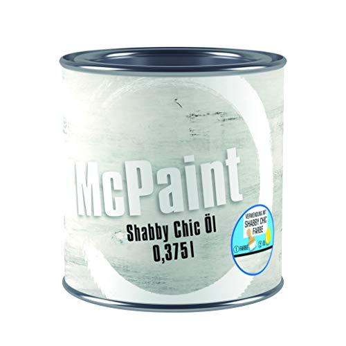McPaint Shabby Chic Effect Öl für innen und außen, grau, 0,375L, Aus alt mach neu - trendiger Vintage Look, Kreidefarbe