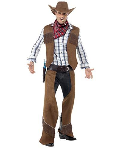 Generique - Disfraz de Vaquero Hombre marrón - M