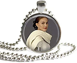 Star Wars Padme Amidala 1 Inch Silver Plated Pendant Necklace