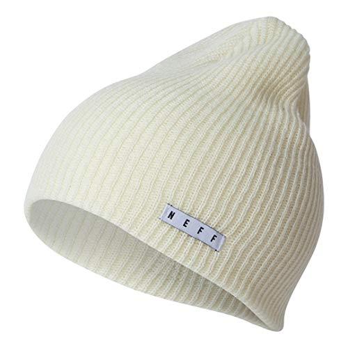 Neff Unisex Daily Beanie, Warm, Slouchy, Soft Headwear, Ivory, One Size