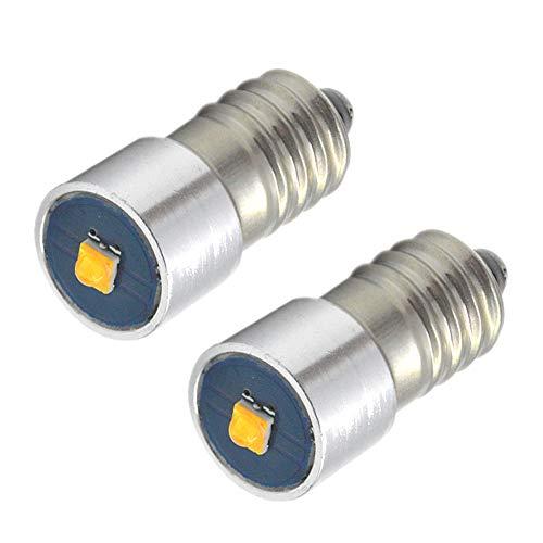 Ruiandsion 2 bombillas LED E10 de 6 a 24 V 3 W CREE 1SMD 3000 K de color blanco cálido LED de repuesto para faros delanteros, linternas, linternas, no polaridad