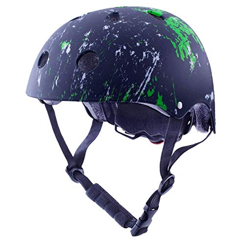 Exclusky Kinder Helm Skateboard BMX Fahrrad Sport-Helm for Jungs Mädchen 3-8 Jahre