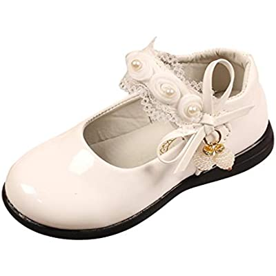 Baby Flower Girls Spanish Patent First Walking Formal Navy Booties for Infants