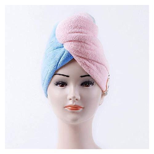 QIANSDZSW Sombrero Cabello Seco Toalla de Pelo Microfibra Magic Hojo seco Sombrero Secado Toalla Envuelta Turban Head Wrap Herramientas de baño