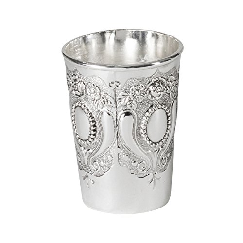 Silver Colored Kiddush Cup - For Shabbat and Havdalah - Judaica Shabbos and Holiday Gift - 3.5-inch - By Ner Mitzvah