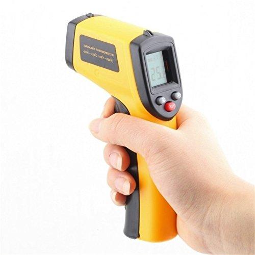 GS Thermomètre numérique infrarouge à écran LCD - Laser - 50 ~ 380 °C - Sans contact