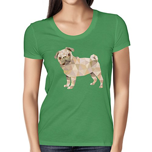Akita Damen T-Shirt mit Hund Fun Shirt Hunde Haustier Herz Geschenk Geburtstag