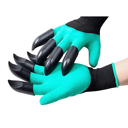 Garden tools gloves with Claws,gadgets for men women ladies gardening gifts,Waterproof Safe Garden Gloves for Digging, Pruning & Planting