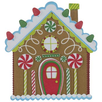 HAPPY DEALS ~ Gingerbread House Craft Kits - Makes 24 | Christmas Craft Kit for Kids