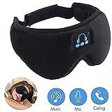 Auriculares de Dormir 5.0 Bluetooth Sleep Eye Mask, 3D Sleepphones inalámbricos Sleeping Travel Music Eye Cover con altavoz estéreo ultra delgado HD (blinder)