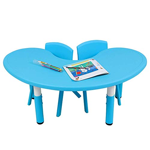Furniture Decoration CuteLife Children's table and chair set Kids Table And Chairs Set 2 Chairs And 1 Activity Table For Children Educational Toddlers Furniture Set for your kids Indoor or outdoor
