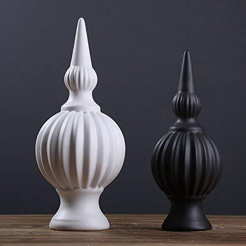ZXL Creatieve voorwerpen voor inrichting, sieraden, ornamenten, studeerkamer, tv-kast, minimalistisch zwart en wit, hars, abstracte kunstornament, (oriëntaal) Big Black White (Ya Gu