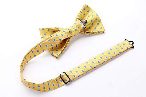 Enlision Men's Floral Jacquard Wedding Party Pre-Tied Bow Tie Adjustable Formal Bowties Neck Tie for Men & Boys