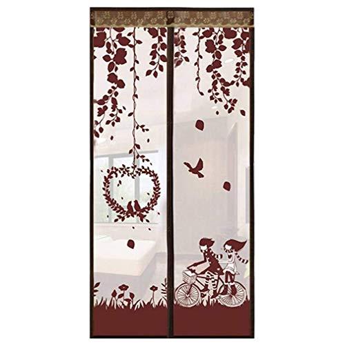 QYDF Velcro Mute Antimückenschutz für Zelttür geeignet für Balkon Schlafzimmer Küche Türen für Magnetic Mosquito,Braun,80X210CM