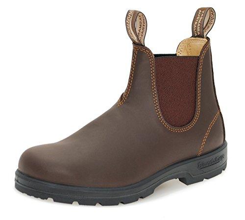Blundstone Style 550 Comfort Boots Unisex Stiefelette Glattleder - Walnut Brown + Lederwax (UK 08.5 / EU 42.5)